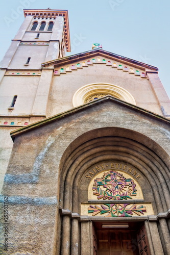 canvas print picture Kirche Saint Etienne in Nizza, Frankreich