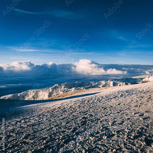 Glaciers on mount Kilimanjaro