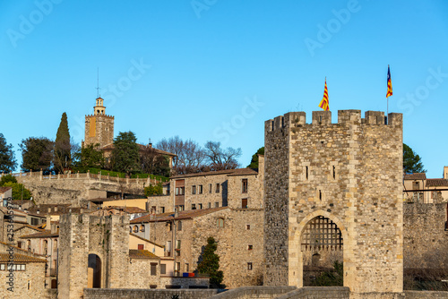 Medieval Town of Besalu, Spain - 253605979