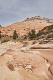 Rocky, sandy hillside