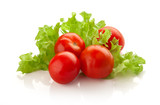 Cherry tomatoes with lettuce