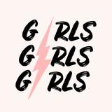 Girls Girls Girls Typographic Design - 253629951