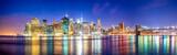 Skyline Panorama von Manhattan mit Brooklyn Bridge, New York City, USA