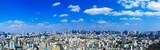 (東京都-風景パノラマ)展望ラウンジから望む新宿からお台場方面までの風景