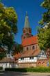Leinwandbild Motiv Blick von Osten auf den historischen Dom St. Peter und Paul in Brandenburg/Havel