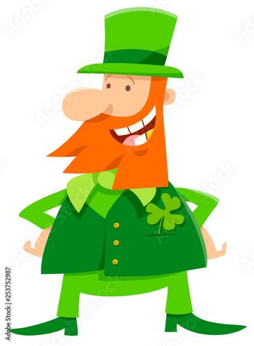 leprechaun and clover cartoon - 253752987