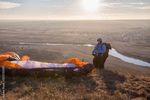 paraglider and paragliderman. © Venera