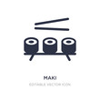 maki icon on white background. Simple element illustration from Food concept.