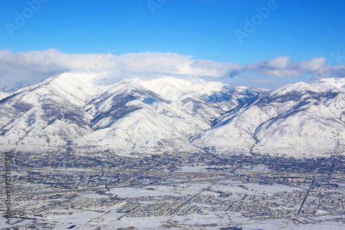 Wasatch Front Mountains by Salt Lake City, Utah - 253807525