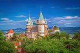 Bojnice castle (1103) in beautiful nature of Slovakia