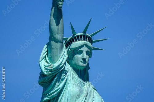 Leinwandbild Motiv Statue of liberty, Manhattan, New York, USA