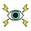 comic book style cartoon mystic eye