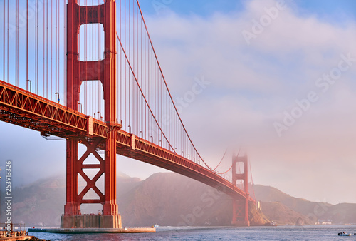 Golden Gate Bridge at morning, San Francisco, California - 253913326