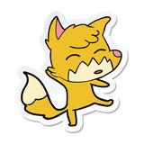 sticker of a cartoon fox