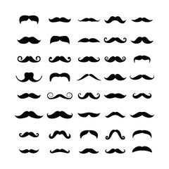 moustache icons set mustache on a white background,vector illustration