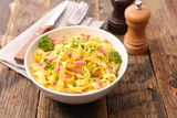 tagliatelle with ham and cheese