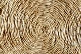 Braune runde Bastunterlage