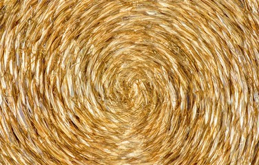 Braune runde Bastunterlage © detailfoto