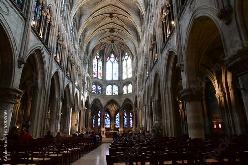 Paris; France - april 2 2017 : the Saint Severin church