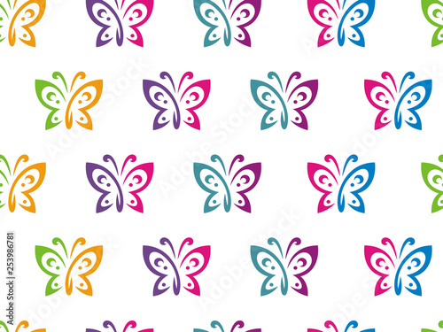 Butterfly seamless pattern. Vector illustration of a butterfly. © dizamax