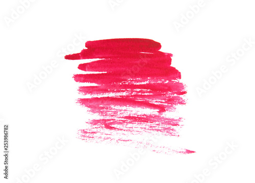 Red abstract background in watercolor style