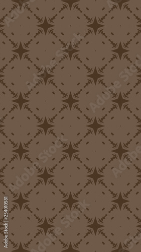 Ornate geometric pattern and abstract colored background - 254010581
