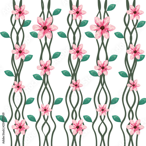 branch with leafs and flowers pattern © Gstudio Group