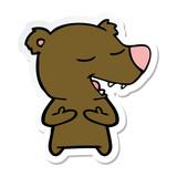 sticker of a cartoon bear