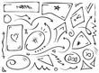 mixed geometric shapes set