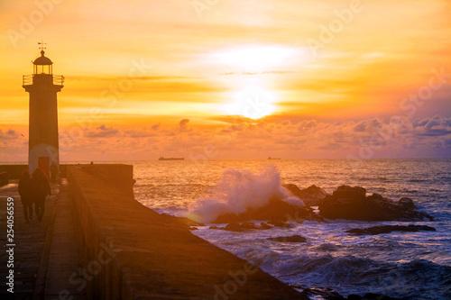 obraz PCV sunset at the sea
