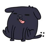 cartoon kawaii of a cute dog