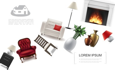 Realistic Classic Interior Elements Template