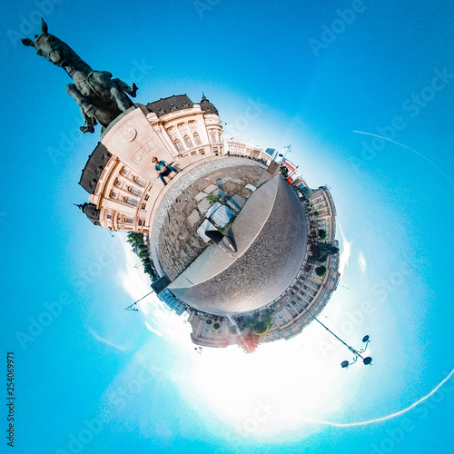 360 tiny planet architecture - 254069971