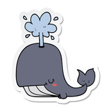 sticker of a cartoon whale