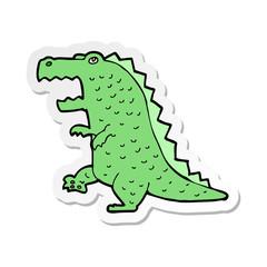sticker of a cartoon dinosaur