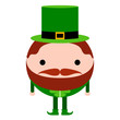 Isolated abstract patrick day elf. Vector illustration design - 254091511