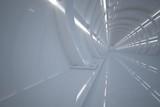 Fototapeta Do przedpokoju - Futuristic tunnel. Fantasy on the theme of space.  3D illustration © Татьяна Леднева