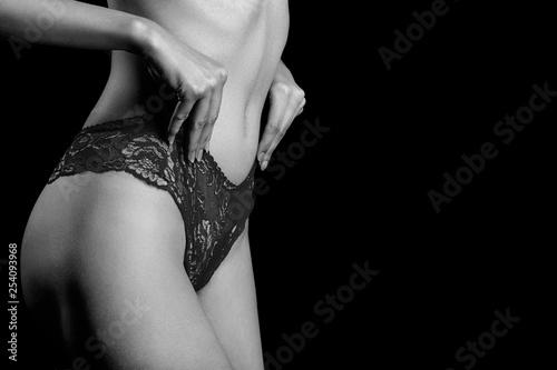 slim female body - 254093968