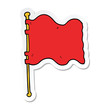sticker of a cartoon flag