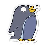 sticker of a cartoon penguin