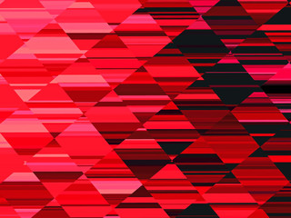 bright red fractal geometric texture background