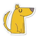 sticker of a quirky hand drawn cartoon dog