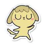 sticker of a cute cartoon dog