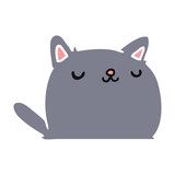 cartoon of cute kawaii cat