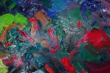 """Постер, картина, фотообои """"Colorful art palette. Close-up"""""""