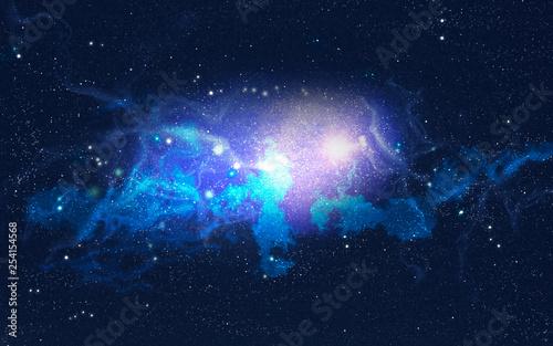 Galaktischer Nebel mit Lichteruptionen - 254154568
