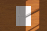 Vector scene, stationery mock up for social media. Editable transparent shadow. Background with sunlight - 254163797