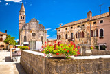 Village of Svetvincenat ancient square and church view