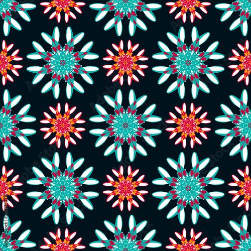 Oriental colorful ornament seamless pattern illustration