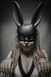 Girl in rabbit mask